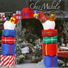 Outdoor Decors Christmas Inflatable Arch Santa Claus Candy Cane Gift Box Archway