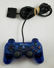 OEM Official Sony PS2 Playstation Wired Blue Controller SCPH-10010