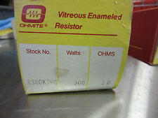 Ohmite C300K2R0 Resistor 300 Watts 2 Ohms NEW!!! in Factory Box Free Shipping