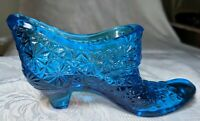 "Vintage Fenton 6"" Light Blue Daisy and Button Boot Slipper Shoe"