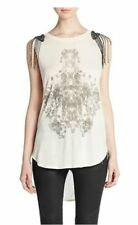 Haute Hippie Sleeveless Embellished Shoulder  Tank Top   $375.00 size S