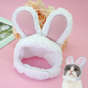 Pet Costume Bunny Rabbit Hat With Ears For Cats Small Dogs Party Costume Clothes