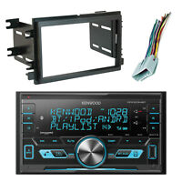 Kenwood 2-DIN Bluetooth USB AM/FM Radio, Scosche Dash Kit, Radio Wire Harness