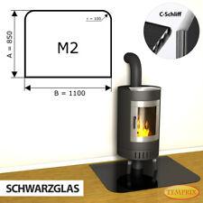 Kamin Glasbodenplatte Funkenschutz Kaminplatte Glas Ofen Platte Bodenplatte - M2