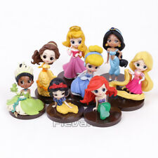 DISNEY - PRINCESAS / PRINCESS - SET 8 FIGURAS / Q POSKET / 8 FIGURES SET 5-8cm