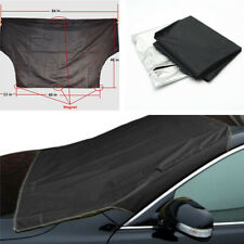 Car Snow Protect Cover Magnet Windshield Black Frost Protector Tarp Sun Shield