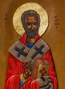 icon of Saint Nicolas Nicholas Agios Nikolaos Byzantine Greek Christian Orthodox