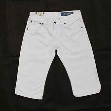 DONDUP MARYLIN LADIES WHITE DENIM JEANS STANDART SHORTS FIT W28 UK10 MADE ITALY
