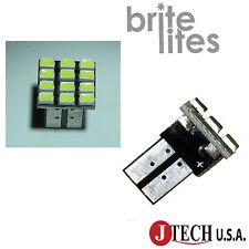 2 x T10 12 SMD LED Car Lights Bulbs White