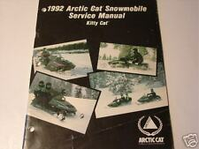 1992 ARCTIC CAT SNOWMOBILE KITTY CAT SERVICE  MANUAL NEW