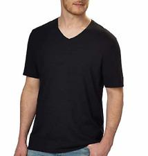 Calvin Klein Men's Short Sleeve V-neck Tee, Black, Medium