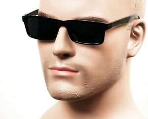 Gangster Slim Square Sunglasses OG LOC Style Super Dark Black 59SD