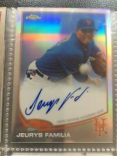 2013 Topps Chrome Refractor Jeurys Familia Auto Card #427/499 New York Mets