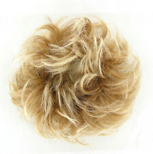 hair bun scrunchie ponytail Light Coper Blond with Light Blond 17/l27t613