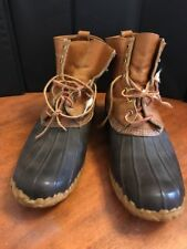 Hunting Shoe L. L. Bean Freeport Brown Leather / Rubber Duck Boots Size 13 M
