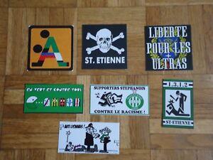 Autocollants ultras saint etienne (asse, magic fans, green angels)
