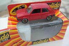 SOLIDO n° 1358 Volkswagen Golf GTI rouge.  Boîte