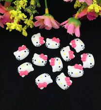 12pcs Cute Resin HELLO KITTY Rose Bow flatback Scrapbooking For phone /craft DIY