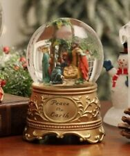 "Nativity ""Peace on Earth"" Water Globe Glitter included Song plays Silent Night"