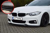 Frontspoiler Spoilerschwert für BMW 4er F32 F33 F36 aus ABS ABE schwarz glänzend