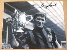 "TONY BOOK Manchester City League Cup HAND SIGNED 10"" X 8"" Photo COA Man C"