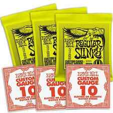 Ernie Ball 3221 Regular Slinky 10-46 Electric 2221 Guitar Strings X3 Sets