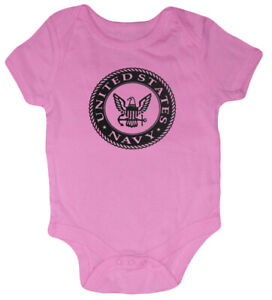 US Navy Baby Tee Shirt Infant Clothes Gifts Bodysuit One Piece Girls