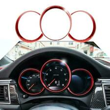 3Pcs Red Dashboard Meter Ring Covers Trim For Porsche 718 Boxster Cayman 2012+