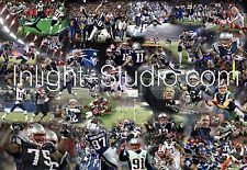 Patriots Tom Brady Super bowl collaje canvas image picture poster