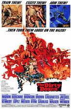 THE DIRTY DOZEN Movie POSTER 11x17 Lee Marvin Ernest Borgnine Charles Bronson