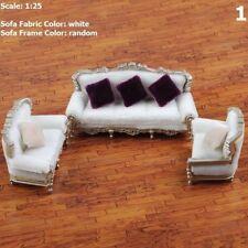 DIY 1/25 Puppenhaus Couch Sofa Stuhl Kissen Set Miniatur-Möbel Modell Spielzeug