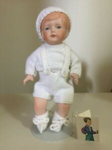 Little Big John Porcelain Doll - Height 8 inches (with stand)