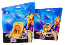 NEW 2 Pack Disney Hannah Montana Double Sided Hang Necklace and Heart Bracelet