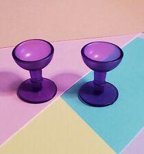 Custom, Set of 2 Cup/Goblet Made for G1 My Little Pony Lavender Dream Castle Set
