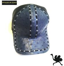 OSTRICH HAT(GENUINE) WT,STICHES,FISHNET,SNAPBACK (BLUE GRAY) GIVALDI OF ITALY999