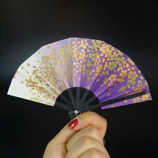 "10CM Purple Folding Fan Paper For 1/3 24"" SD17 70CM BJD SD AOD Luts DOD DOLLFIE"