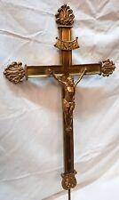 PROZESSIONSKREUZ Tragekreuz Vortragekreuz sakral Messing cross croix Kreuz