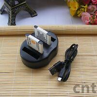 2X Battery & USB Dual Charger for Sony NP-BN1 NPBN1 Cybershot DSC-W800 DSC-W830