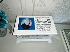 Ashes casket with Photo Personalised urn memorial memory box  SC18P