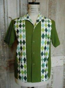 "Regalia Handmade Shirt ""Martini Shirt"" Retro Vintage Materials Large $125.00"