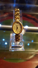 ladies empress gold dress watch with gold bracelet,champagne face,#b1