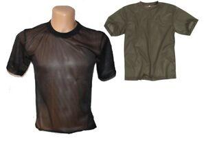 Mesh T-Shirt Netz - Schwarz unisex netzhemd netzshirt Funktionsshirt Gothic Punk