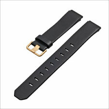 JACOB JENSEN Uhrband watch strap original Leder schwarz gold 19 mm Einschubband
