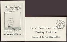 GB 1925 WEMBLEY EXHIBITION PPC POST OFFICE GOVT.PAVILION + LION HANDSTAMP 31 OCT