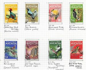 MALAYSIA  1965 BIRDS  issue of 8 Used