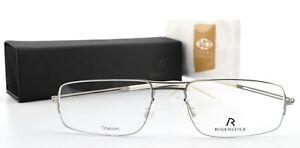 Rodenstock Glasses R4627 D 52-17 140 Titanium Frame Timeless Doppekbrücke c2017