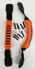 2 Kayak Side Mount Carry Handles Bright Orange, with FREE Rivets.Luggage Style