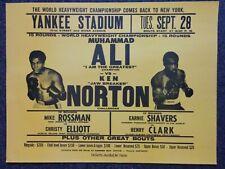 Yellow Muhammad Ali Vs Ken Norton Poster 25 x 19.5 inch & 65 x 49.5 CM