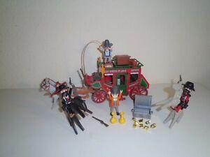 Playmobil Western Postkutsche Postkutschenüberfall +++ TOP +++ viel Zubehör +++