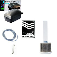 AAP Hydro Sponge Filter Mini, Aquarium Filter/Air Pump COMBINATION, with tubing